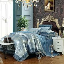 full size of luxury blue silver duvet cover set lace border linens silk cotton jacquard queen