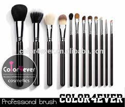 12 pcs wooden sable makeup brush set eyeshadow blush brush