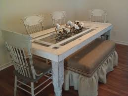 old gl door made into a dining table i love everything about this