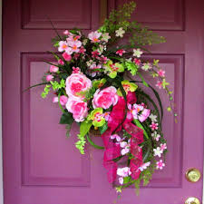 pink roses door hanger fl arrangement pink home decor bri