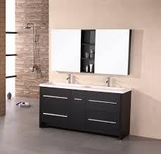 popular 47 inch modern double sink bathroom vanity espresso with mirror