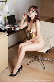 Naked At Office Receptionist Erotic Photos Hq