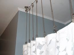 shower curtain rod curved