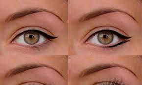 flattering liner for almond eyes