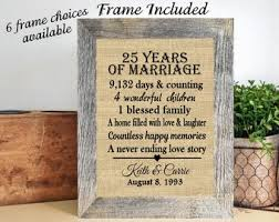 framed personalized 25th anniversary gifts 25th wedding anniversary gift 25th anniversary gift for pas 25th anniversary gifts for couple