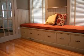 file cabinet bench in home office traditional with built in cabinetry banquette seating storage built office storage