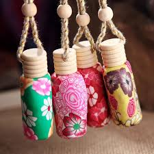 How To Decorate Perfume Bottles Car Hang Decoration Ceramic Essence Oil Perfume Bottle Hang Rope 36