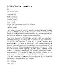 Cover Letter For Nursing Job Sample Nurse Templates Template