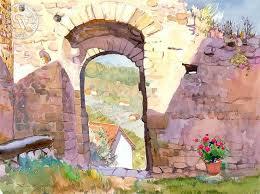 gateway to tuscany arches watercolor paperwatercolour arercolor ideaswatercolorscalifornia arercolor techniquespainting
