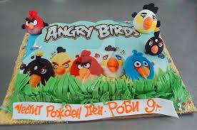 angry birds cake by 6eki d5ed06y
