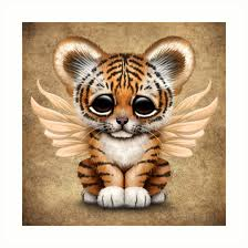 cute baby tiger. Wonderful Baby Cute Baby Tiger Cub With Fairy Wings By Jeff Bartels On