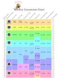 Yarn Chart Yarn Conversion Chart