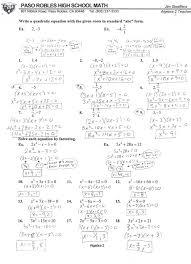 avid 12 algebra 2 1a with mr factoring quadratic equations pdf quadratics by 1 5b 1