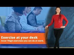 desk inner thigh exercises