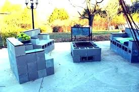 cinder block furniture. Exellent Furniture Fresh Brilliant Cinder Block Furniture Backyard  Genius Ways On B