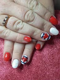 Eye Candy Nails & Training - Red and blue gel polish with love ...