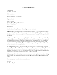 Cover Letter Cover Letter For Job Application Format Format Of