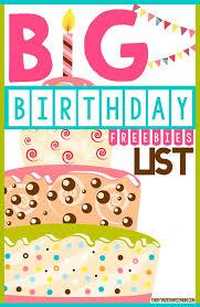 big birthday freebie list for restaurants retail s kids birthday freebies