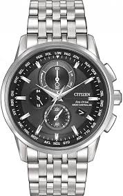 men s citizen eco drive world chronograph a t atomic watch at8110 53e