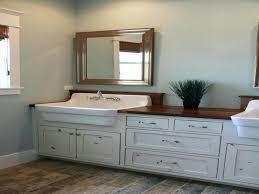 farmhouse bathroom vanity interior top installing pertaining to with sink plans 1 farmhouse sink vanity farmhouse