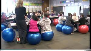image of exercise ball desk chair kids