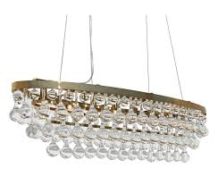 celeste oval glass drop crystal chandelier brass finish