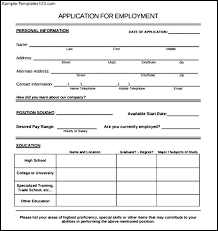 employee contact info application for employment templates employee form sample systematic