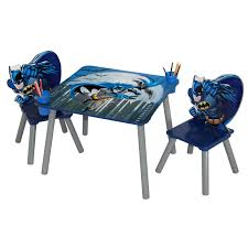 Table Set For Kids Warner Brothers Batman Wooden Kids 3 Piece Table And Chair Set