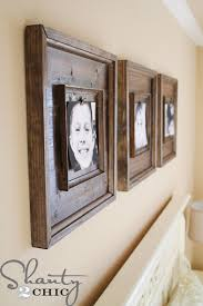 diy wood picture frame with glass inspirational babies and kids archives shanty 2 chic