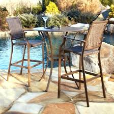 R Bar Height Patio Set Outside Table Top Outdoor Furniture Bistro Backyard  Creationsr Monrovia 3 Piece Heigh  Breakfast