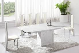 country white marble dining table