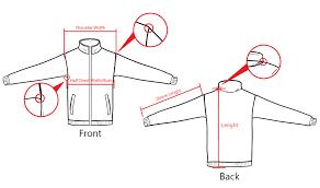 Zipper Size Chart Size Chart Of Zipper Tracksuit Each Design And Uniform