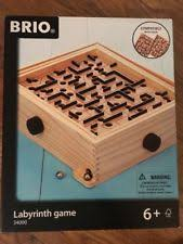 Wooden Maze Game With Ball Bearing Brio Labyrinth eBay 74