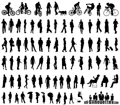 architecture people. Free Vector Silhouettes Of People Standing, Sitting, Walking Architecture People