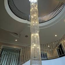 long stairwell chandeliers modern glass and crystal chandelier large