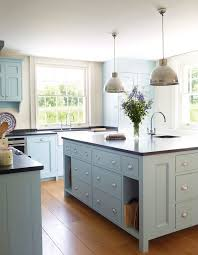 blue kitchen cabinets kitchen industrial with island lighting glass cabinets blue cabinet kitchen lighting