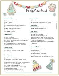 Party Planning Templates Party Planning Template