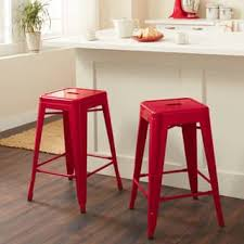 Carbon Loft Tabouret 24-inch Red Metal Counter Stools (Set of 2)