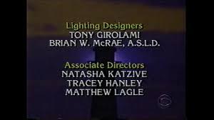 Guiding Light End Credits Guiding Light February 1999 Long Closing