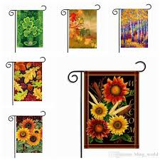 2018 plant printing garden flags outdoor hanging garden flags american style flags party decorations home decor 30 45cm 10 styles yw331 from bling world