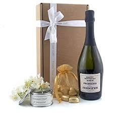 sparkling prosecco and chocolates gift box personalised gifts food and wine gift set