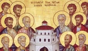 Αποτέλεσμα εικόνας για οι δώδεκα απόστολοι