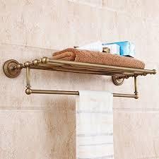 brass towel rack. Wonderful Brass All Brass Wall Mounted Towel Rack Bathroom Hotel Bar Rail Holder Storage  Shelf  EBay On O