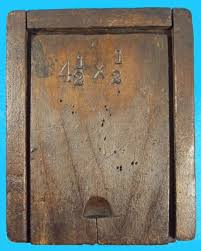 small wooden antique slide top hardware box