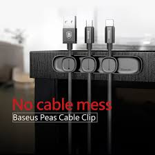 <b>BASEUS Peas Cable Clip</b> Magnetic USB Cord Holder Organizer ...