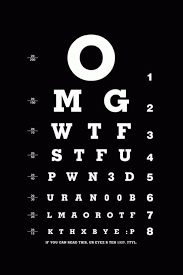 Eye Test Chart For Phone Pin On Clothing