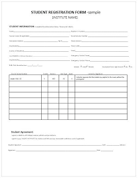 Student Registration Form Template Free Download Blank Job Application Form Template Simple Student Registration Free