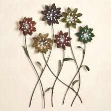 touchofclass metal wall flower art sample graet multi jewel stainless steel simple wallpaper