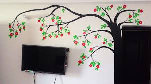 Deewar Par Painting Design Diy Tree Wall Painting For Diwali