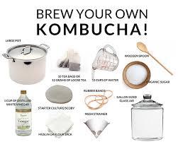 own kombucha tea at